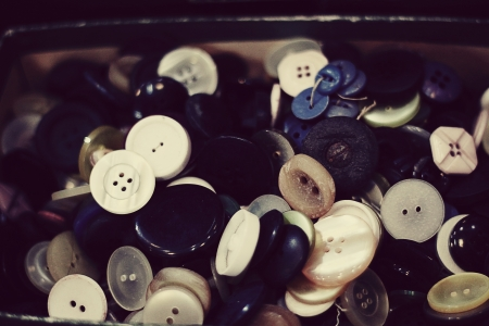 wholes: box with buttons Stock Photo