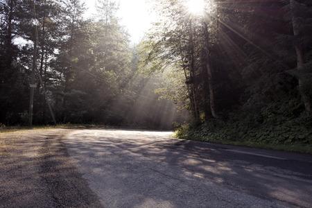 transfagarasan: Rays  of light on Transfagarasan Route