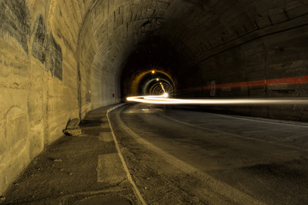 balea: Balea Tunnel on  Transfagarasan Stock Photo