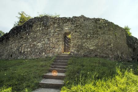 Defensive stone wall