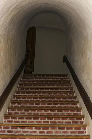 Interior stair from  Deva fortress , Romania Stock Photo - 76911898