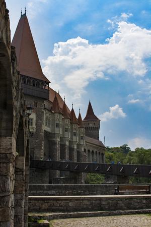 xv century: Corvins Castle, XV century , located in Romania, on the Center of Hunedoara City, southwestern part of Transylvania