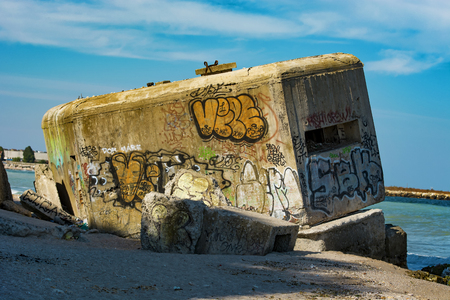 no way out: Bunker in ruins, was build in 1940 at  Back Sea , Romania