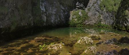 hydrological: Izbucul Tauzului, karst spring in Apuseni mountains, Romania
