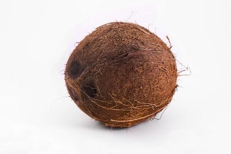 single coconut isolated ona white background