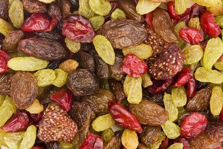 background of assorted dried fruit mix