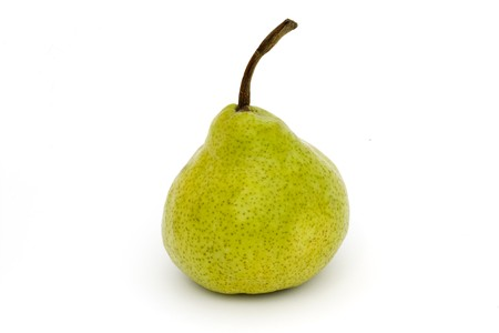 single ripe pear isolated on a white background Stock Photo - 7117505
