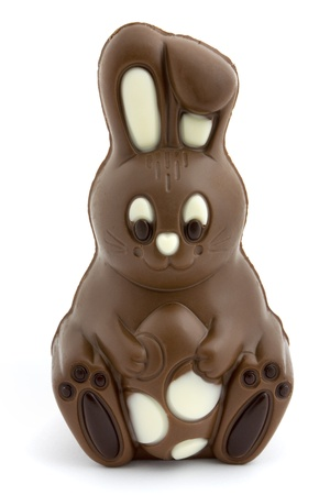 Chocolate easter bunny on a white background Stock Photo