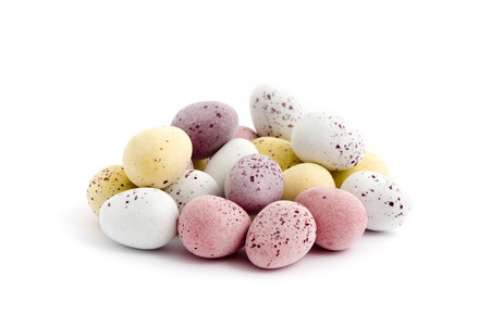 Pile of chocolate easter eggs over a white background Stock Photo - 9308030