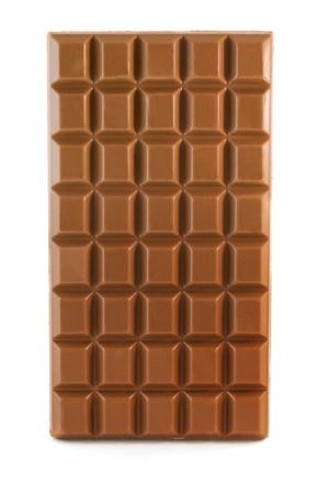black block: Barra de chocolate con leche aislado en blanco Foto de archivo