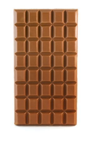 slabs: Milk chocolate bar isolated over white Stock Photo