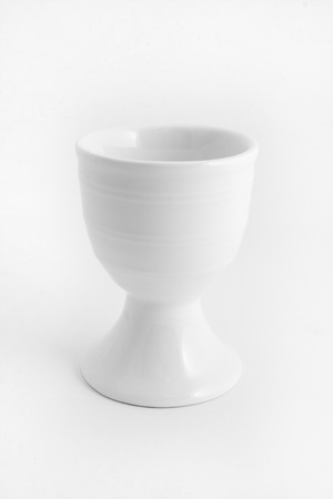 White egg cup isolated over white