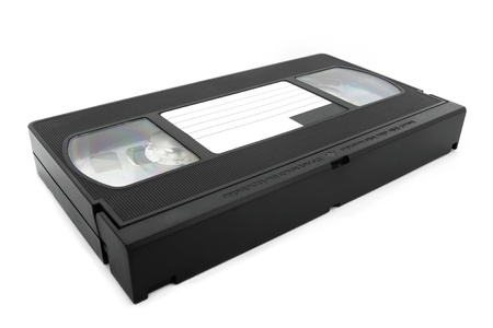 disuse: VHS tape isolated on white