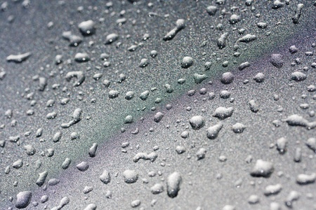 background of water droplets on silver Stock Photo