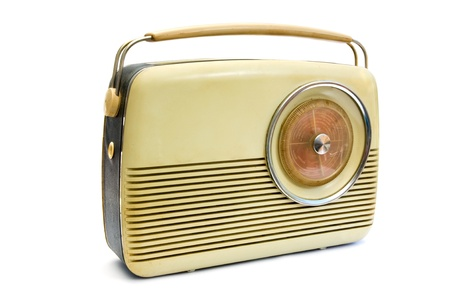 retro styled: Retro radio isolated on white Stock Photo