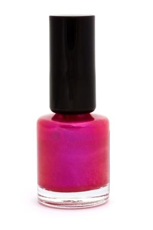 Pink nail varnish isolated on white Stock Photo - 9949247