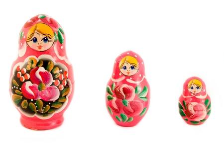 mu�ecas rusas: Tres mu�ecas rusas de m�s de blanco