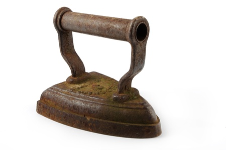 Old rusty iron over white Stock Photo - 13294513