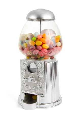 Retro jelly bean sweet vending machine Stock Photo