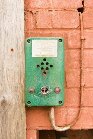 control box: Old fashioned dirty, green control box