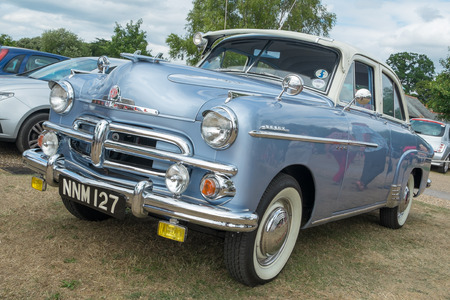 farm shop: WINDSOR, BERKSHIRE, UK- Augsut 4, 2013: A Blue Vauxhall Wyvern Classic car on show at Windsor Farm Shop International Classic Car Show in August 2013 Editorial