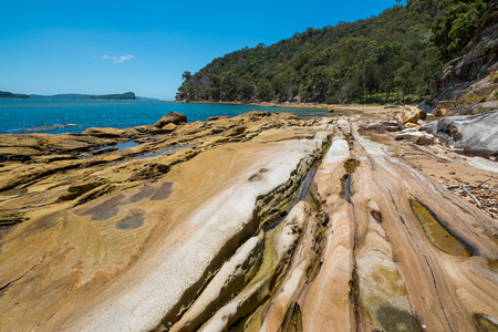 Deserted Australian beach in the Northern beaches area of NSW.