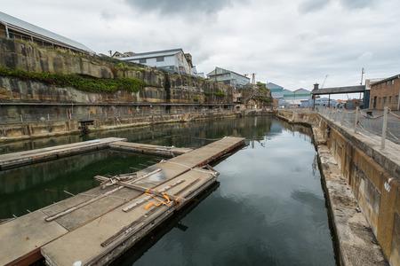 disused: Disused docks on Cockatoo Island in Sydney.