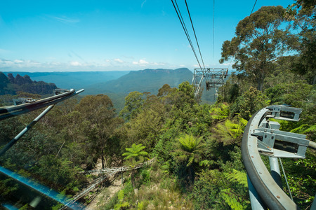 australia jungle: View from  the cable car at Scenic World in the Blue Mountains, Australia.