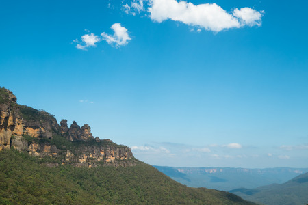 three sisters: View of the Three Sisters in the Blue Mountains, Australia.