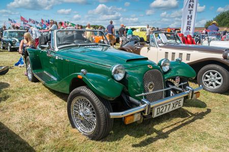 WINDSOR BERKSHIRE UK AUGUST 3 2014: A Green Panther Kallista on show at a Classic Car Show in August 2013.