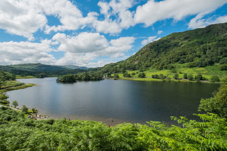 lake district: Landscape of Rydal Water in the Lake District.