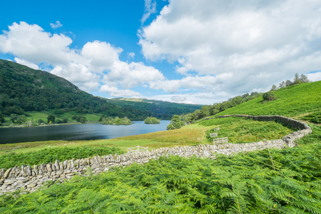 Landscape of Rydal Water in the Lake District.