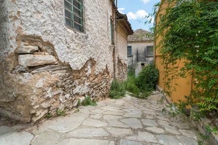 Alleyway in an old Greek town.