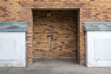 Empty doorway in a carpark. Stock Photo