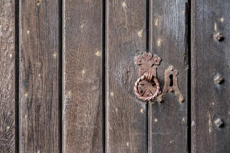 Background texture of a medieval door.