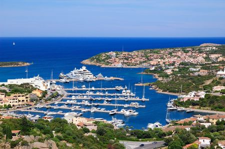 porto: Porto Cervo Marina Stock Photo