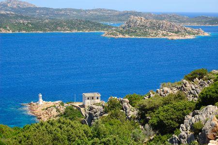 sardaigne: Paysage de la balise dans le Nord de la Sardaigne (Palau)