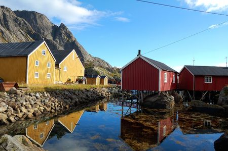 Norwegian houses - Lofoten  photo