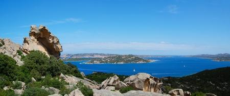 Palau view to La Maddalena Archipelgo Фото со стока