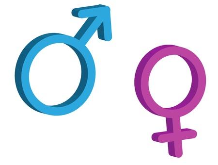 man vrouw symbool: Geslacht teken