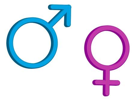 3d: Gender symboles 3d Banque d'images
