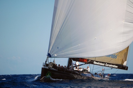 PORTO CERVO - SEPTEMBER 11, 2010 - Participants in the Maxi Yacht Rolex Cup boat race