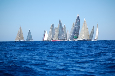 maxi: PORTO CERVO - SEPTEMBER 11, 2010 - Participants in the Maxi Yacht Rolex Cup boat race