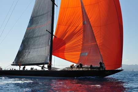 2011 PORTO CERVO - SEPTEMBER 10: Maxi Yacht Rolex Cup boat race