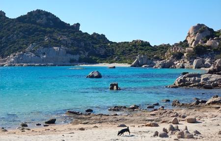 union beach: La Maddalena Archipelago - Italy Stock Photo