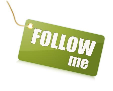 me: Follow me label