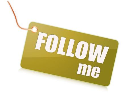 follow me: Follow me label