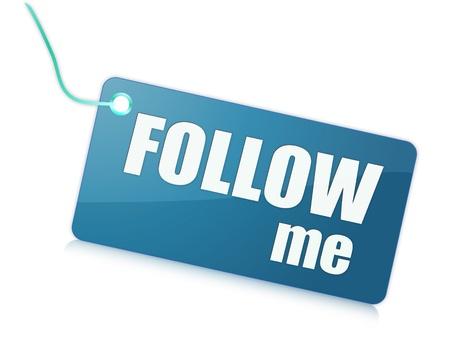 me: Follow me Stock Photo