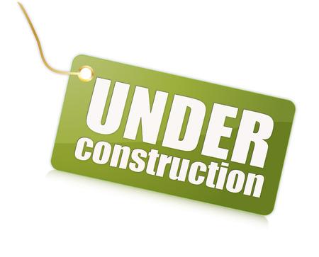 Under construction label Фото со стока
