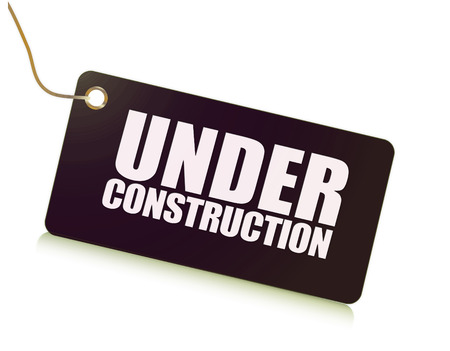 Under construction label message